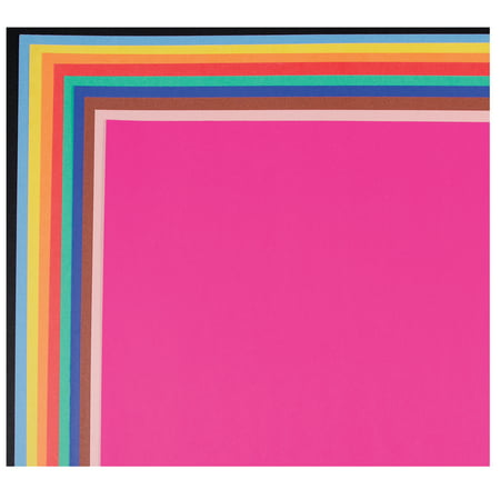 School Smart Railroad Board, 22 X 28 in, 4-Ply Thickness, Assorted Color, Pack of 25