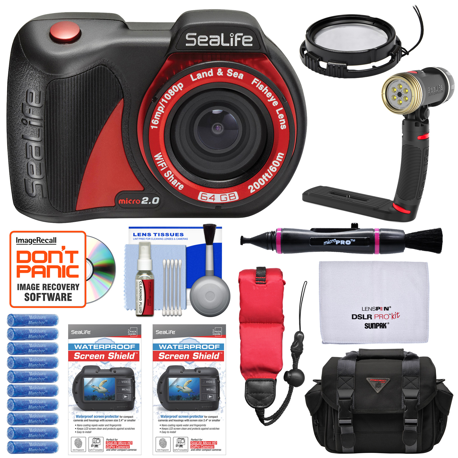 SeaLife Micro 2.0 64GB Wi-Fi Underwater Digital Camera with 10x Close Up Lens + SL674 Sea Dragon LED Video... by SeaLife