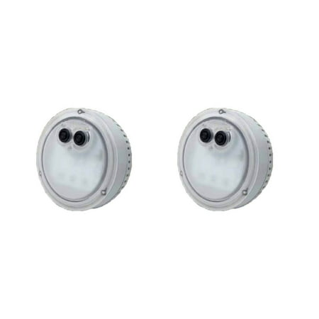 Intex PureSpa Multi-Colored LED Light for Bubble Spa Hot Tub Jacuzzi (2 Pack) (Jacuzzi Eyeball)