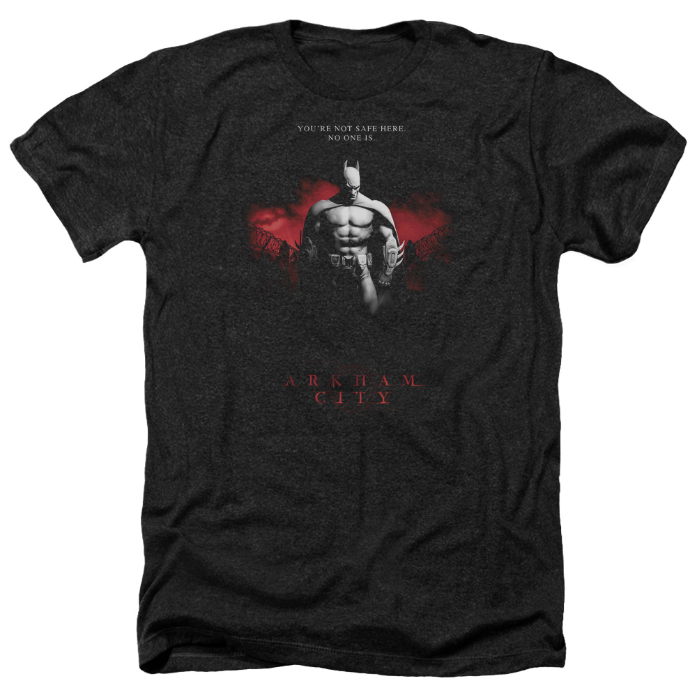 Arkham City Standing Strong Mens Heather Shirt