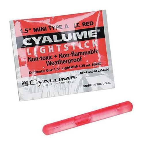 CYALUME TECHNOLOGIES 9-86000PF Lightstick,Red,4 hr.,1-1 2 in. L,PK50 by CHEMLIGHT BY CYALUME TECHNOLOGIES