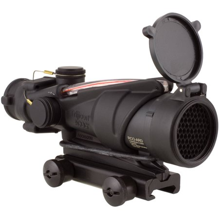 Trijicon ACOG Rifle Scope, 4X32, Red Chevron Reticle BAC-M150, Matte