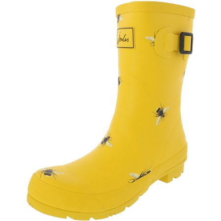 Joules Women's Molly Welly Gold Knee-High Rubber Rain Boot - 7M Gold Snowboard Boots