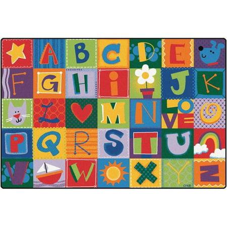 Carpets for Kids 3802 Toddler Alphabet Blocks - Primary - Alphabet Carpet