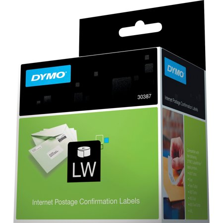 Dymo, DYM30387, Internet Postage Labels, 100 / Roll, White