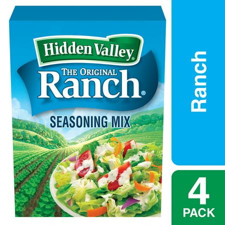 (2 Pack) Hidden Valley Original Ranch Salad Dressing & Seasoning Mix, Gluten Free - 4 Packets ()