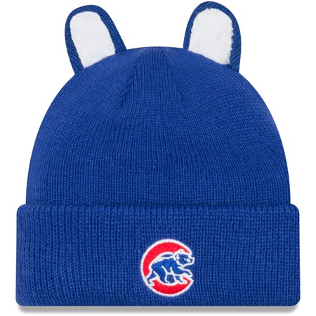 Chicago Cubs New Era Toddler Cozy Cutie Cuffed Knit Hat - Royal ... 3b7c04fe727