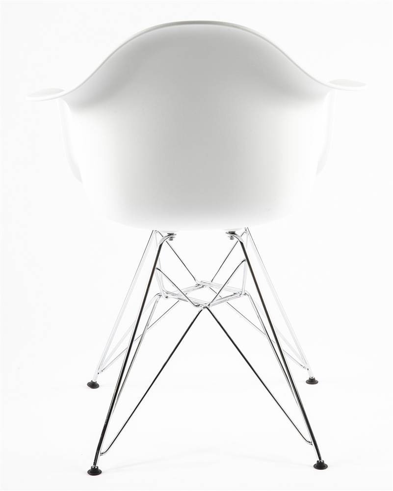 Mid-Century Eiffel Dining Armchair White by Stilnovo