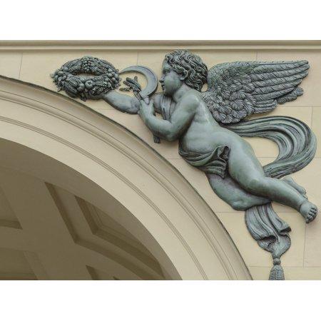 Canvas Print Arch Decor Angel Wings Decoration Ornament Figure Stretched Canvas 10 x 14 - Angel Decor