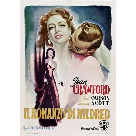Mildred Pierce Italian Poster Art From Left Joan Crawford Zachary Scott 1945 Movie Poster Masterprint