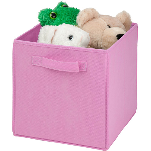 Honey Can Do Non-Woven Foldable Storage Cube, Multicolor (Pack of 4)