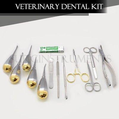 Veterinary Dental Extraction Instruments Kit Forceps