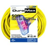DuroMax XPC10050C 50-Foot 10 Gauge Triple Tap Extension Power Cord