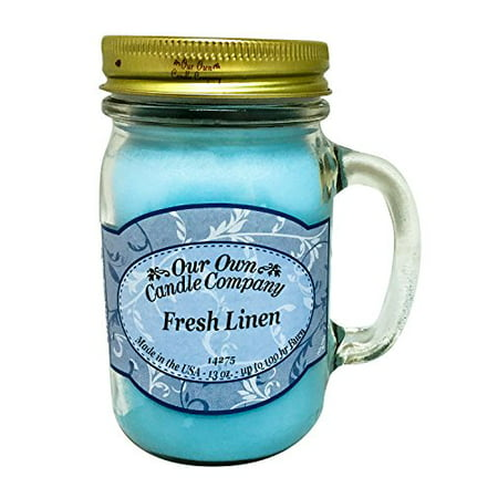 13oz FRESH LINEN Scented Jar Candle (Our Own Candle Company Brand ()