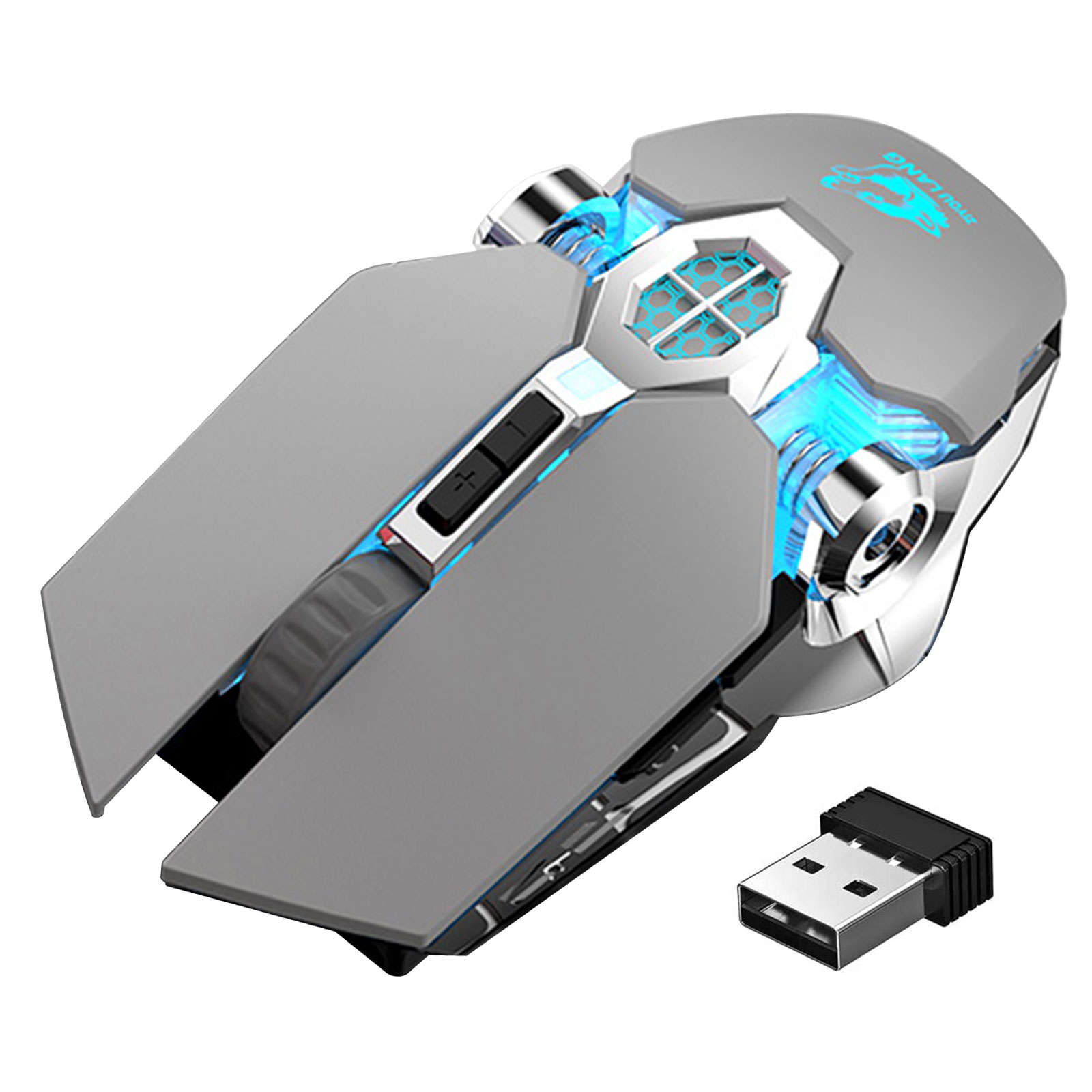 4 Adjustable DPI Power Saving Mode Wireless Mouse for Laptop//PC//Notebook Wireless Gaming Mouse Rechargeable Computer Gaming Mouse Unique Silent Click with 7 Breathing Led Light
