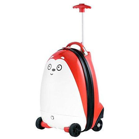 - iCozy Kids Carry On Luggage Battery Powered RC Remote Control Travel Suitcase - Bear