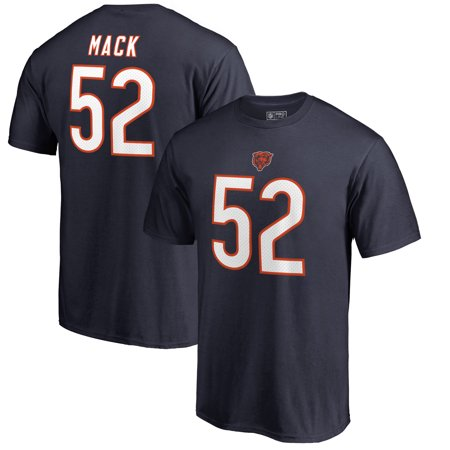 Khalil Mack Chicago Bears NFL Pro Line by Fanatics Branded Authentic Stack Name & Number T-Shirt - Navy