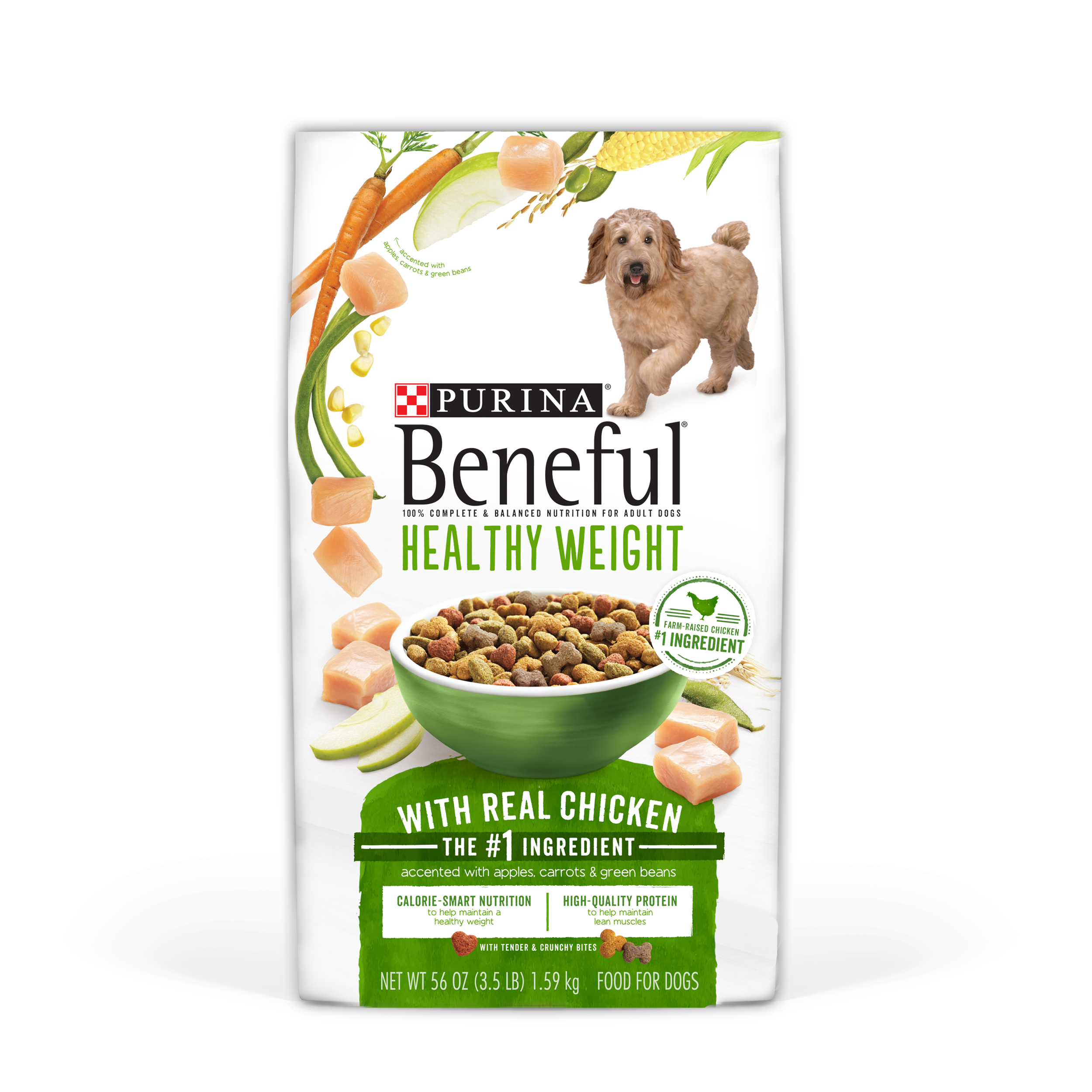 Purina Beneful Healthy Weight With Real Chicken Adult Dry Dog Food - 3.5 lb. Bag