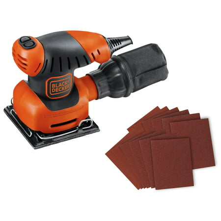 BLACK+DECKER 1/4-Inch Sheet Sander With Bonus Sandpaper,