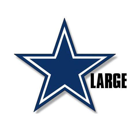 Fan Club Sticker - LARGE Blue Star Dallas Cowboys Colors Sticker (logo big dak fan)