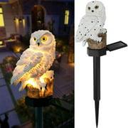 EVERKING LED Garden Solar Lights Outdoor Decorative Owl Shape Waterproof LED Garden Stake Lights, Solar-Powered Lawn Lamp Light for Walkway, Pathway, Patio, Yard Landscape Lighting(White)