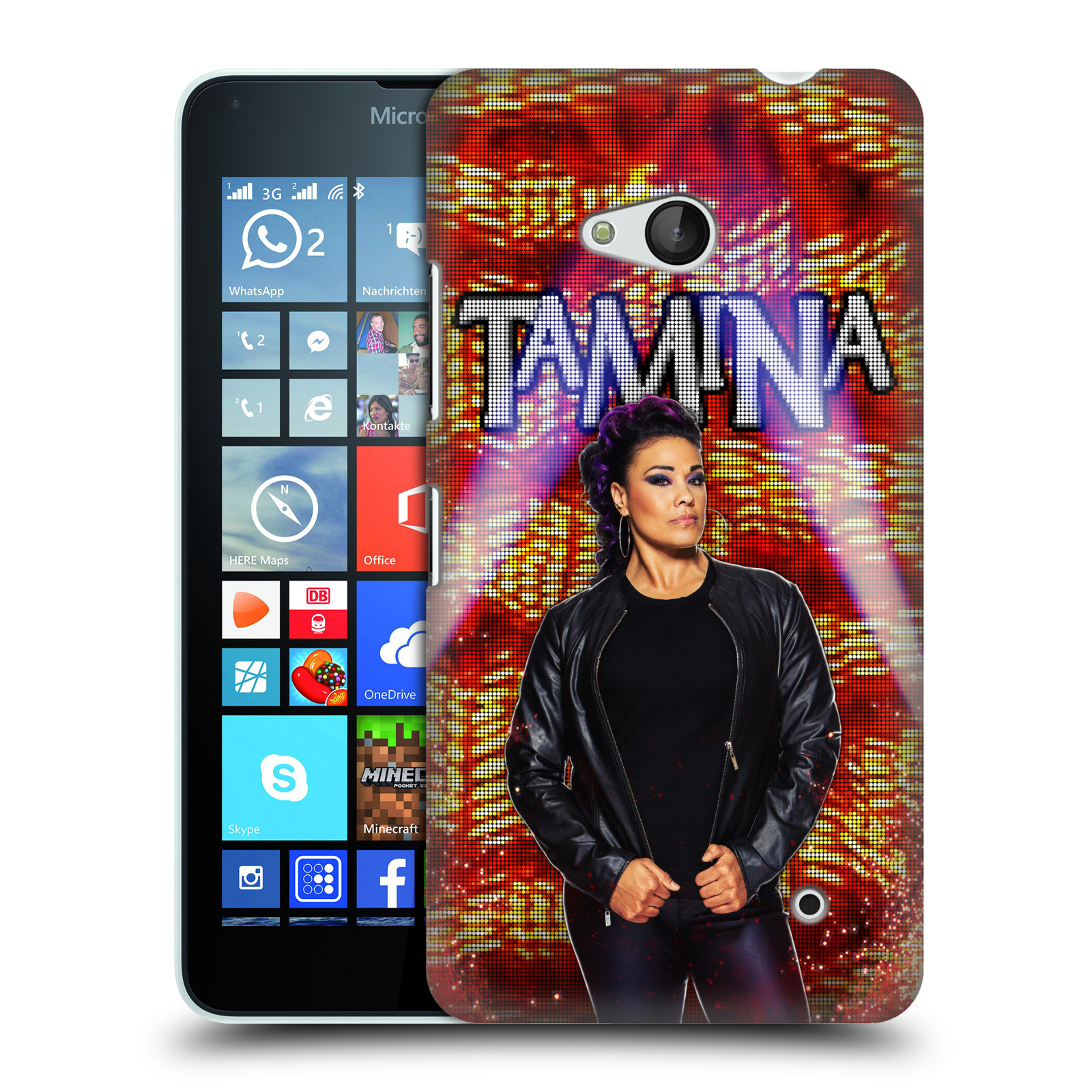 OFFICIAL WWE TAMINA HARD BACK CASE FOR MICROSOFT PHONES