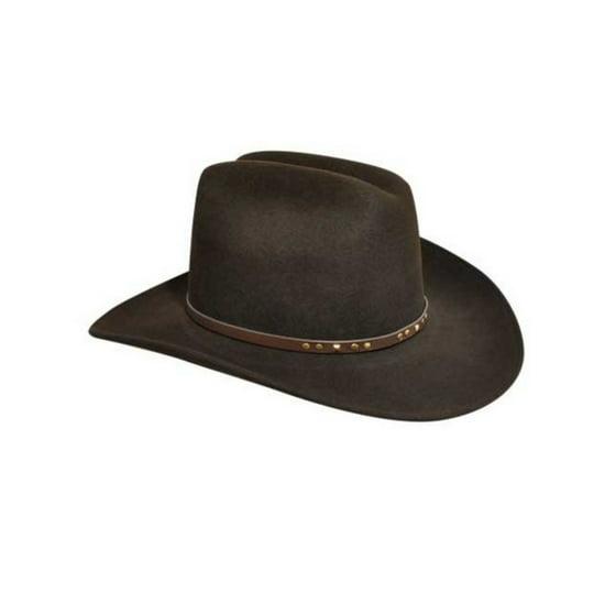 a7c8e56a9 Bailey Cowboy Hat Mens Gold Studs Rodeo Brim LiteFelt Chisholm W05LFG