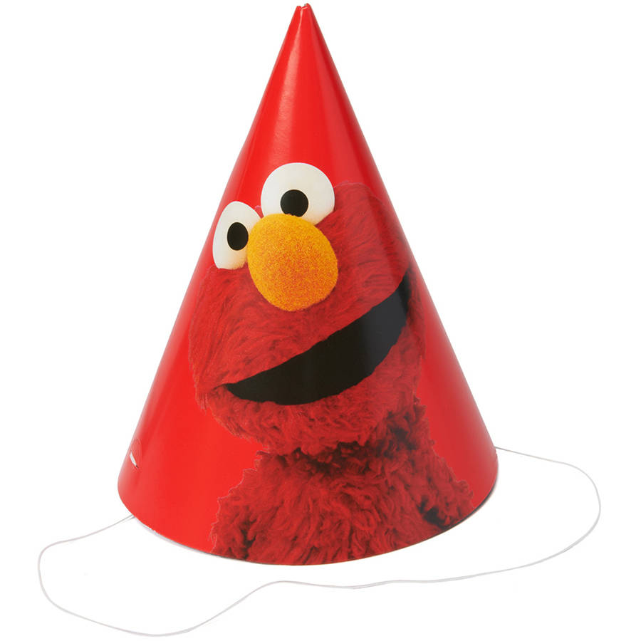 Elmo Party Hats/Masks, 8 Count, Party Supplies