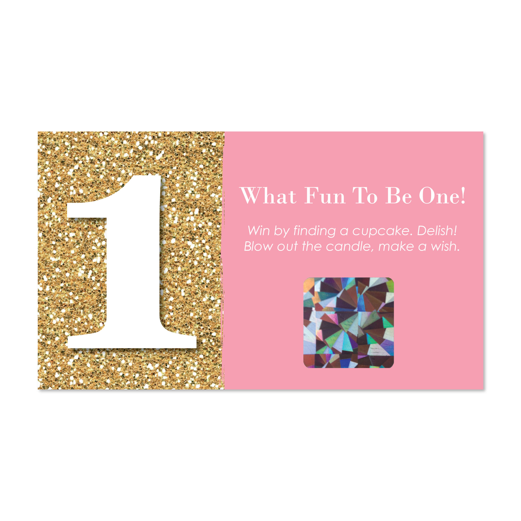 Fun to be One - 1st Birthday Girl - First Birthday Party Game Scratch Off Cards - 22 Count