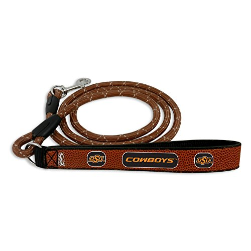 NCAA Oklahome State Cowboys Football Leather Rope Leash - Brown - Large