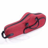 Glarry High Grade Durable Cloth Alto Saxophone Case Saxophone Box Red