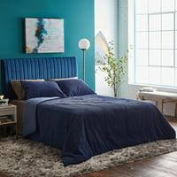 MoDRN Neo Luxury Corduroy 3-Piece Comforter Set