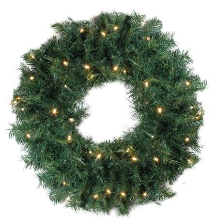 """24"""" illuminé vert cèdre pin artificiel de guirlande de Noël - lumières claires - image 2 de 2"""