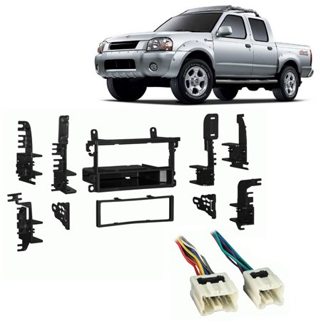 - Fits Nissan Frontier 02-04 Single DIN Stereo Harness Radio Install Dash Kit