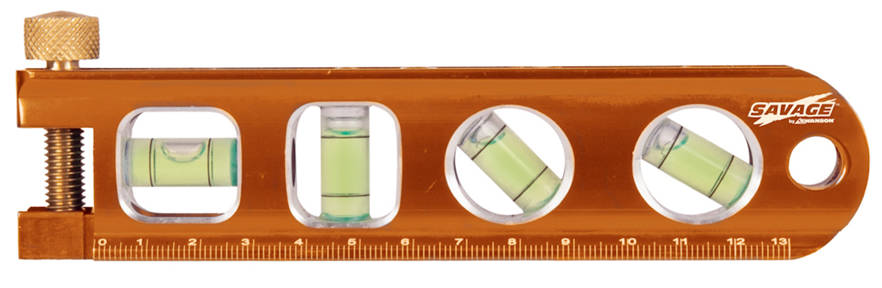 6 In. Savage Magnetic Billet Torpedo Level W Pipe Clamp, Metric (15 Cm) by Swanson Tool Company, Inc