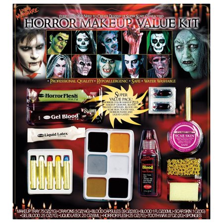Morris Costumes Blood Gel Sponge Flesh Crayons Horror Family Makeup Kit, Style FW9543H - Blood Makeup