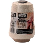 Weston Brands Cooking Twine Cone 500' 16-Ply Natural Cotton (CookingTwineCone 500' 16ply NaturalCotton)