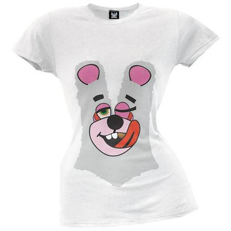 Twerk Bear Juniors Costume White T-Shirt Inspired by Miley Cyrus, 2013 VMAs - Meme Inspired Halloween