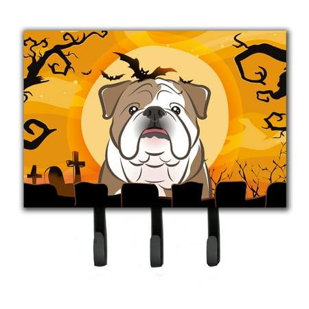 Bulldog Leash Holder (Halloween English Bulldog  Leash or Key Holder)