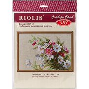 """Cosmos Counted Cross Stitch Kit, 11.75"""" x 8.25"""", 15 Count"""