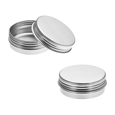 1.4 oz Round Aluminum Cans Tin Can Screw Top Metal Lid Containers 40ml - Top Metal Tin