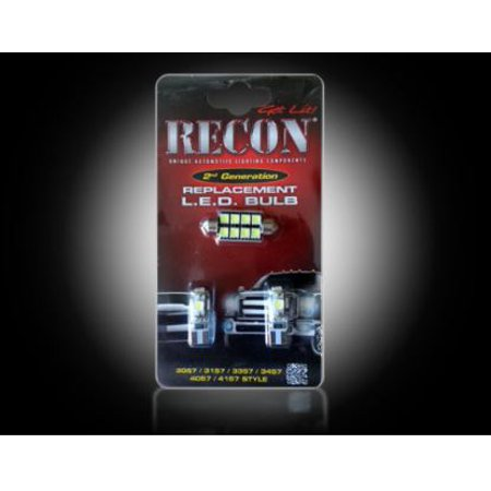 Recon Accessories 264167 Dome Light Bulb - LED Dome Light Bulb- LED OE Replacement; White Light; Set Of 3 - image 1 de 1