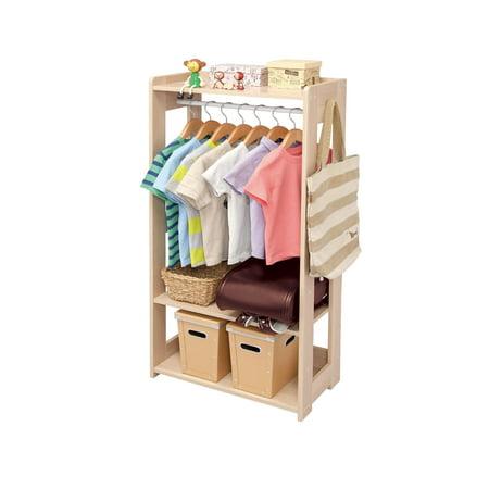 Extra Large Wood Rack - IRIS Compact Wood Garment Rack, Natural