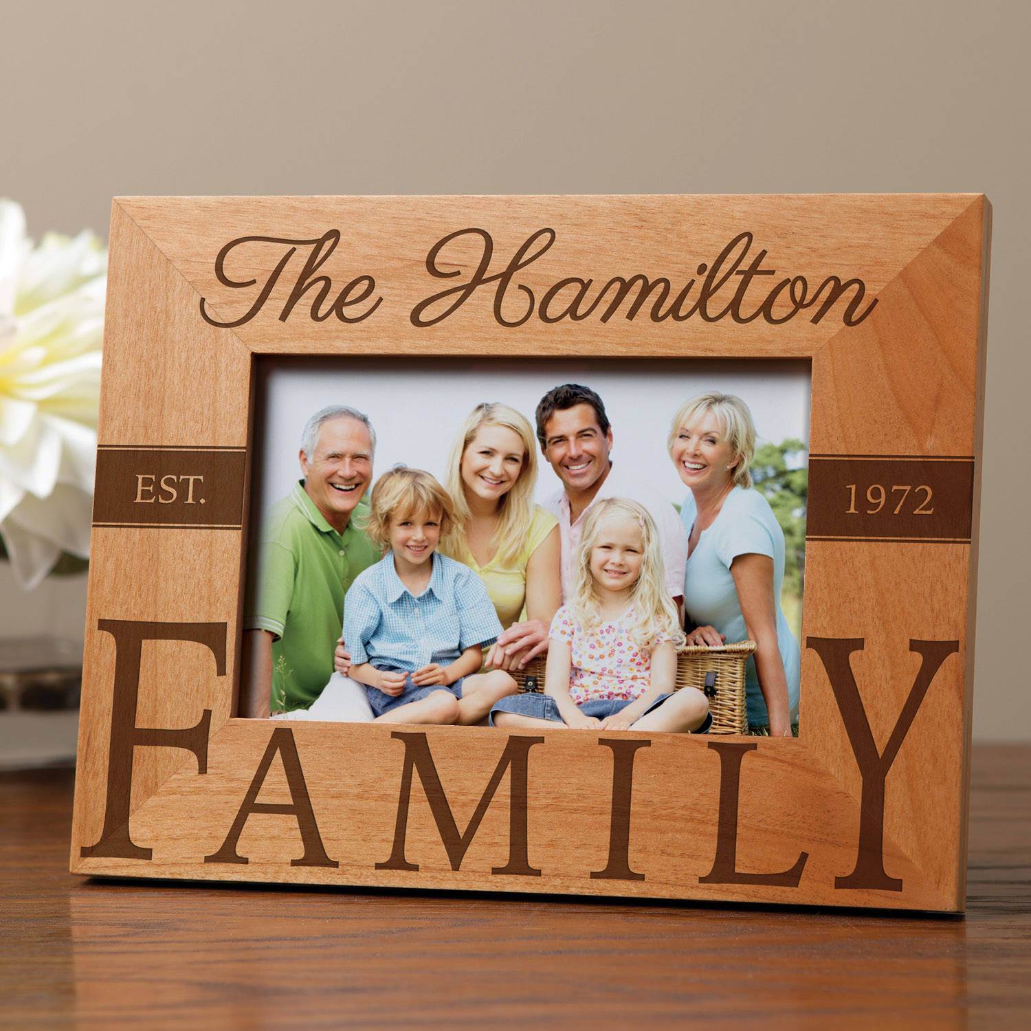 Our Family Personalized Wood Frame
