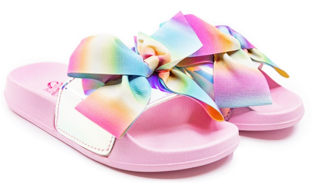 Jojo Siwa Metallic Tie Dye Bow Slide