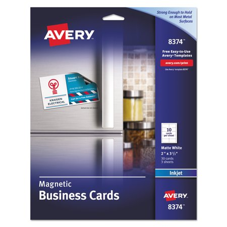 Avery magnetic business cards 2 x 3 12 white 10sheet 30pack avery magnetic business cards 2 x 3 12 white 10 colourmoves