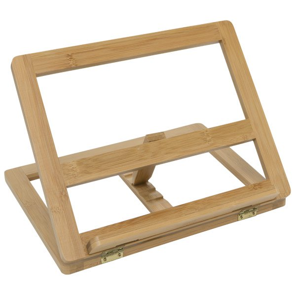Creative Mark Tao Bamboo Adjustable 5 Position Wood Desk Table Easel & Drawing Stand Fits Easily Into Backpacks Or Tote Bags- Natural Color
