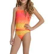 Girls' Ombre Crochet Tankini Swimsuit