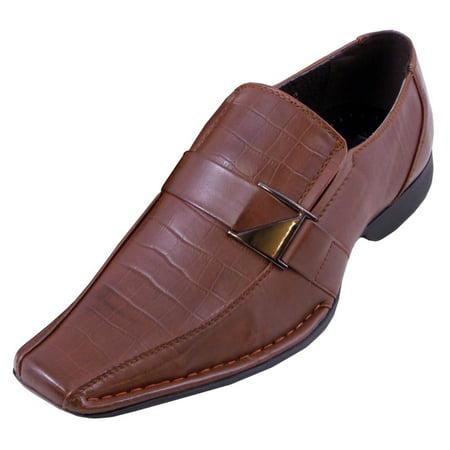 Blancho Men A-181 Stylish Bridal Shoes Leather Shoes Cognac -