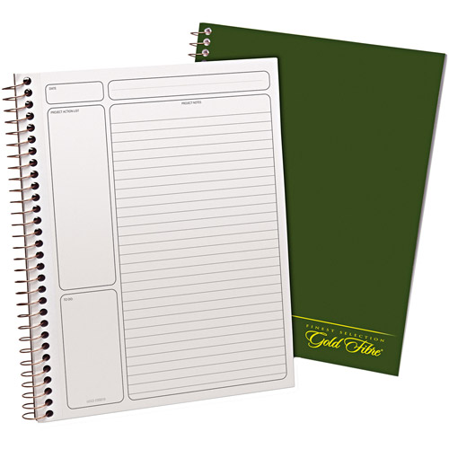 "Ampad Gold Fibre Wirebound Legal Pad, 9-1/2"" x 7-1/4"", White, Green Cover, 84 Sheets"